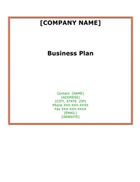 Top 10 Business Plan Templates You Can Download Free Inccom
