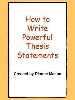 How to find an essay thesis